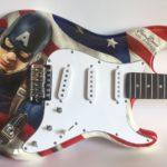 Aerografia chitarra - Capitan America